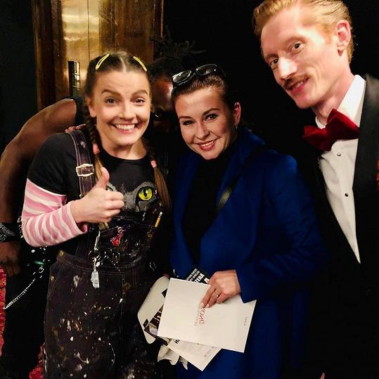 Dana Morávková s britskými kolegy Catherine Dryden a Jakem Curranem