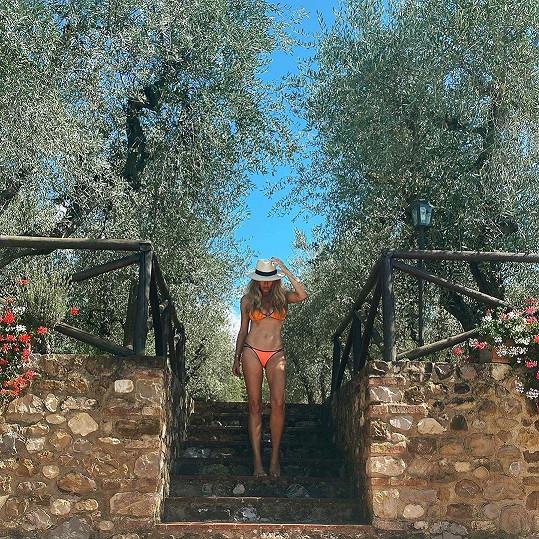 Simona Krainová si užívala dovolenou v Itálii.