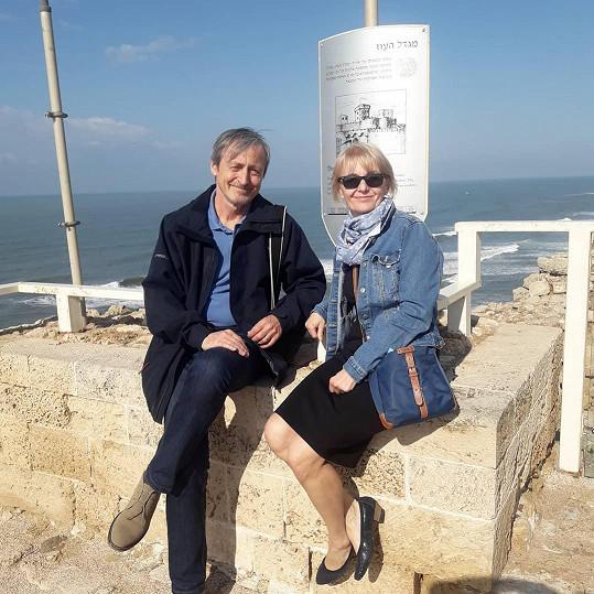 Veronika Žilková teď s manželem Martinem Stropnickým žije v Izraeli a do Česka se vrací jen kvůli některým pracovním povinnostem.