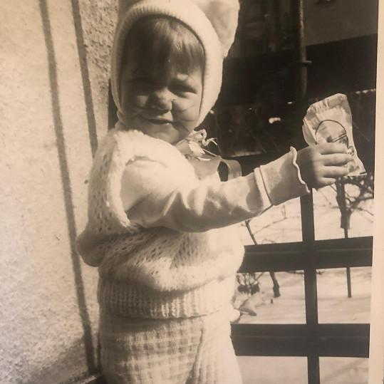 Agáta Prachařová byla opravdu roztomilé dítě.