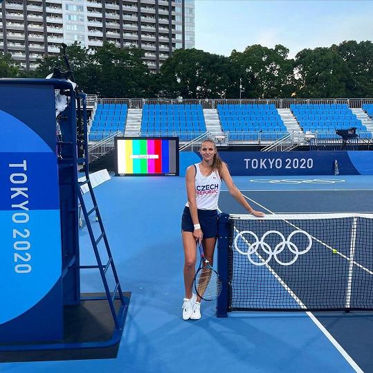 Karolína Plíšková už je v dějišti olympiády - v Tokiu.