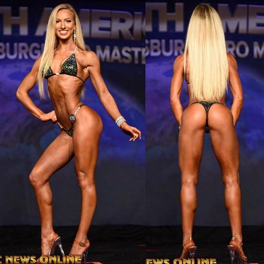 Najela na organickou stravu, jógu a vzpírání. Dokonce vyhrála několik národních soutěží.