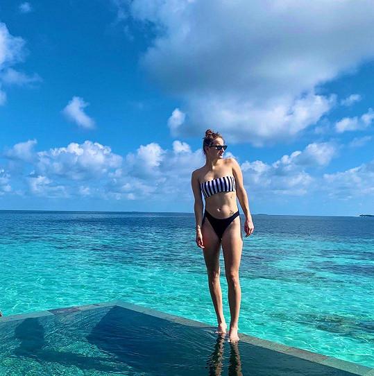 Tenistka Markéta Vondroušová během dovolené na Maledivách.