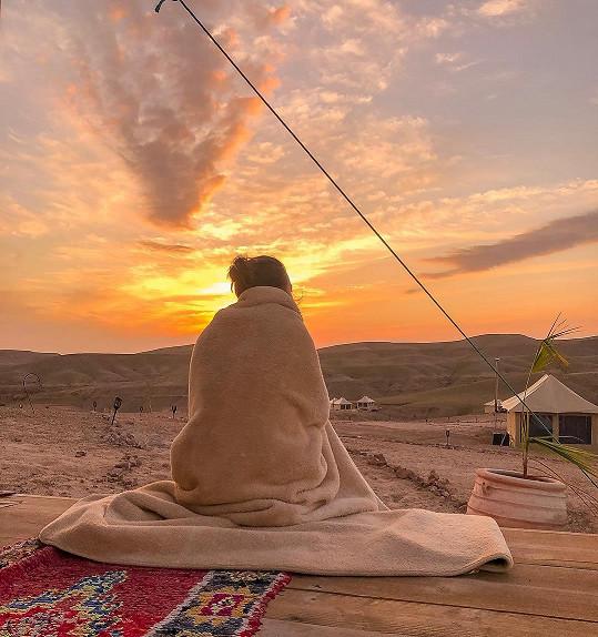 Monika Leová si dovolenou v Maroku užívá naplno.