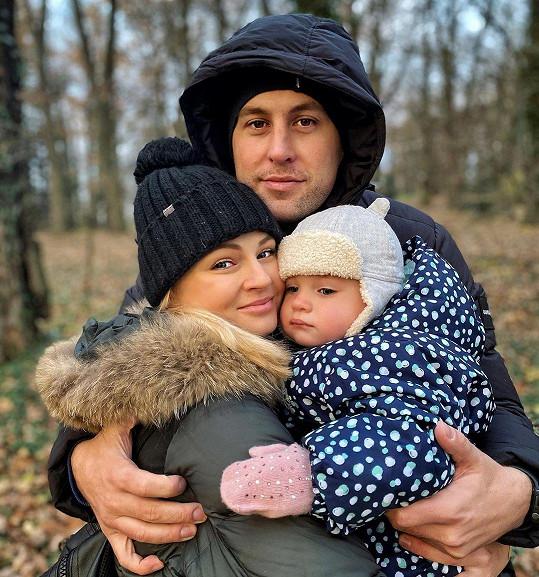 Modelka s partnerem Lubošem a dcerou Lili