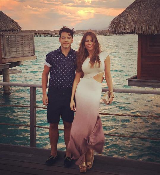 Sofia Vergara se synem Manolem