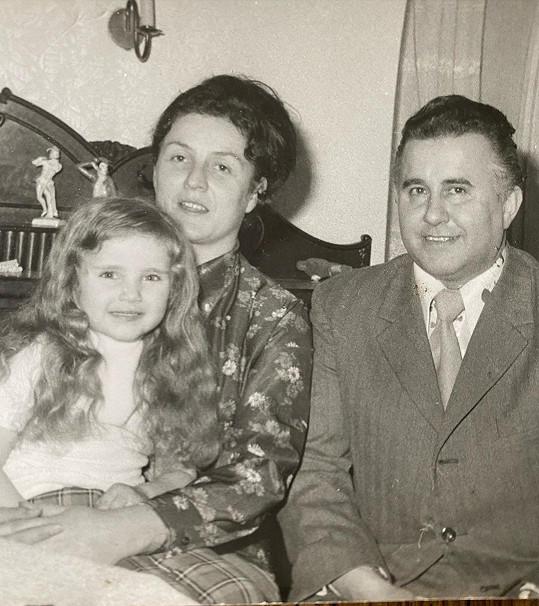 Vendula s rodiči