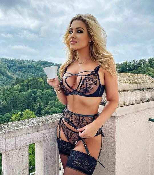 Dominika Myslivcová předvedla své tělo v prádle.