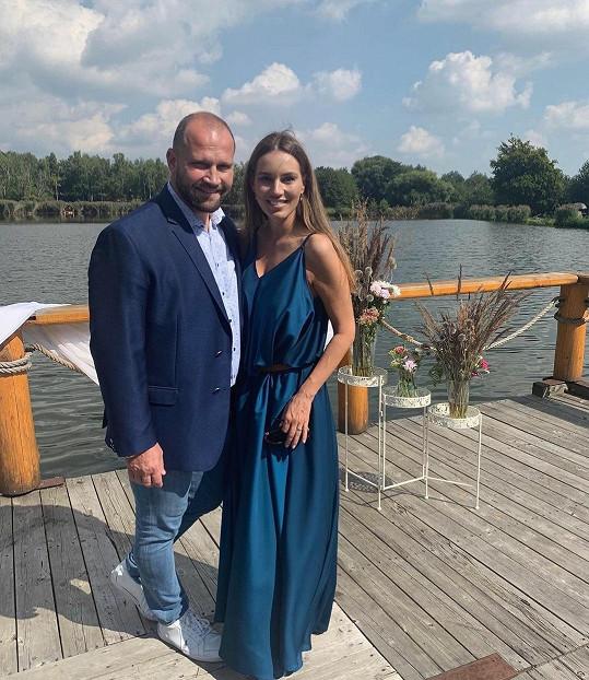 Lucie a Jiří Šlégrovi slaví jedenáct let spolu.