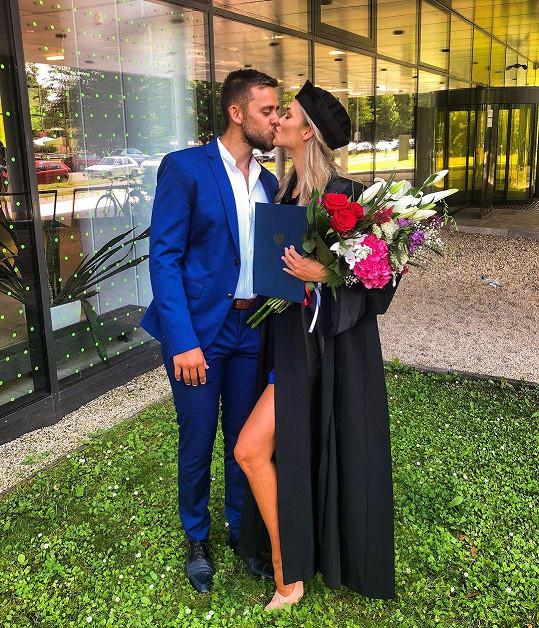 Vincent s partnerkou Anetou Kňávovou