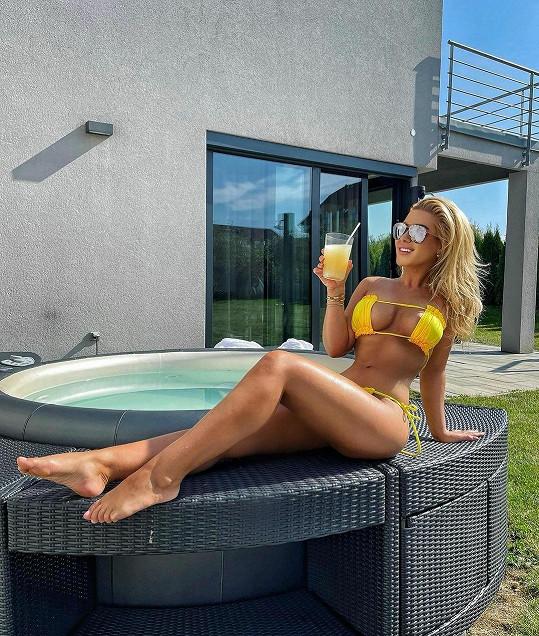 Dominika Myslivcová si užívala poslední teplé dny.