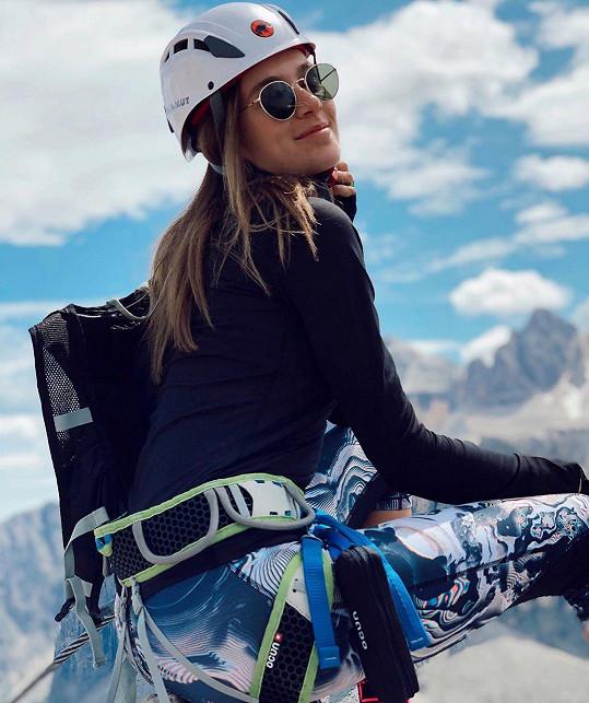 I jako horolezkyni jí to moc sluší.