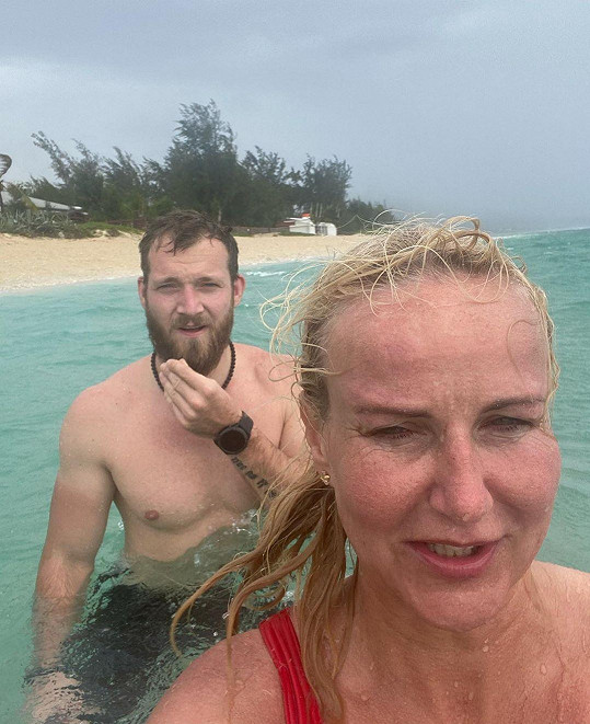 Vendula Pizingerová s manželem Pepou.