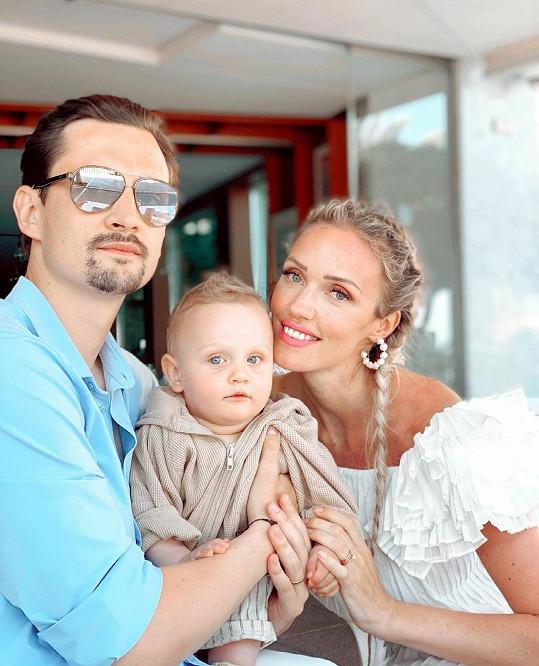 Kateřina se svou rodinkou