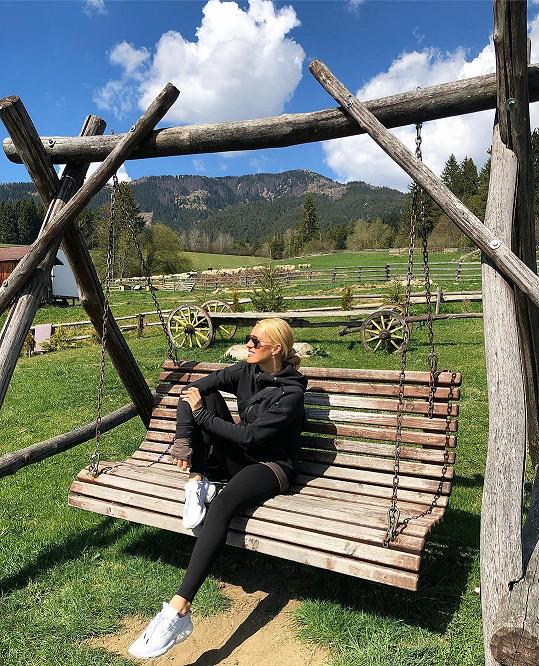 Před pár týdny byla pro změnu na dovolené na Slovensku.