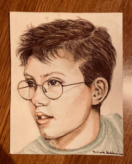 Takhle herečka vystihla portrét svého syna Romana.