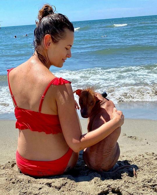 Michaela Salačová si užívá dovolenou v Itálii.