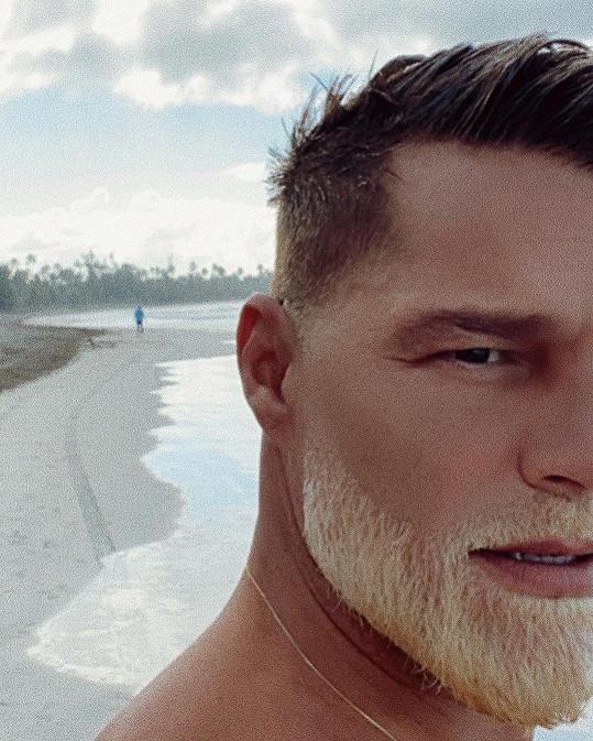 Ricky Martin si odbarvil vousy.