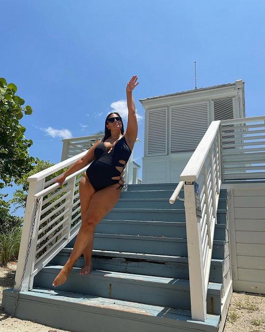 Ashley Graham si užívá dovolenou v Miami.