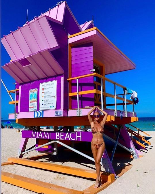 Životní styl v Miami jí byl velmi blízký.