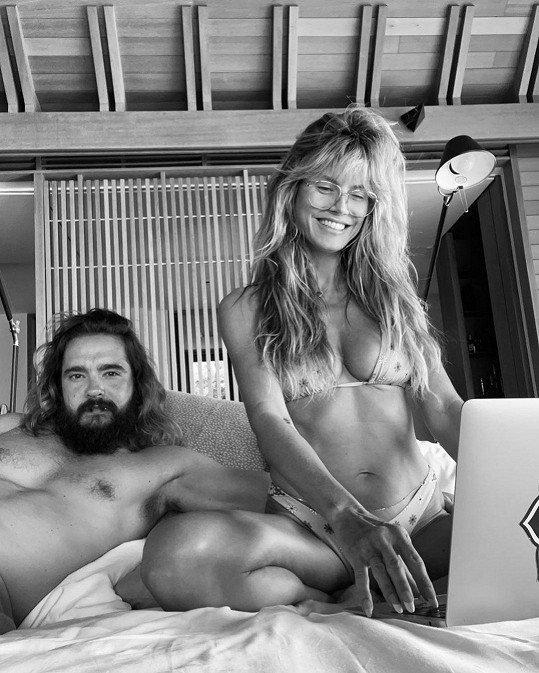 S manželem Tomem Kaulitzem na jedné z jejich dovolených