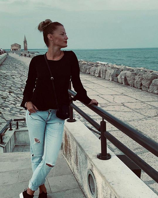 Šárka Vaňková si užívá v Itálii.