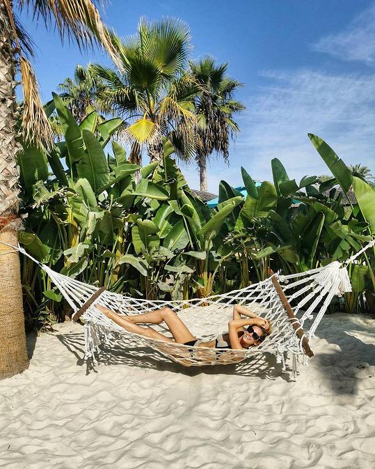 Jasmina Alagič a její relax na dovolené