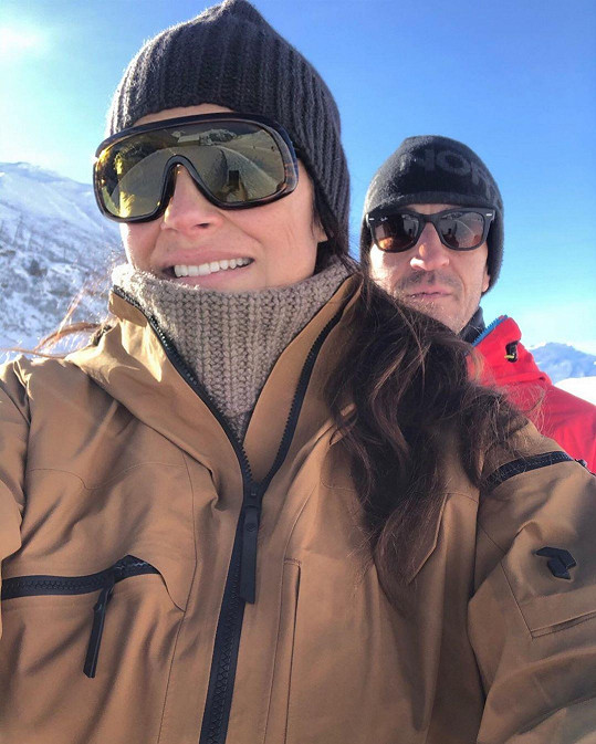 Alena Šeredová s partnerem Alessandrem Nasim