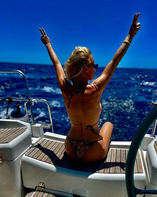 Zuzana Belohorcová si užívá pohodu na Tenerife.