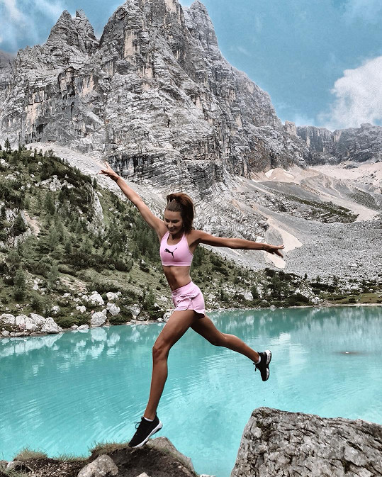 Běhu se věnovala i na dovolené v Dolomitech.