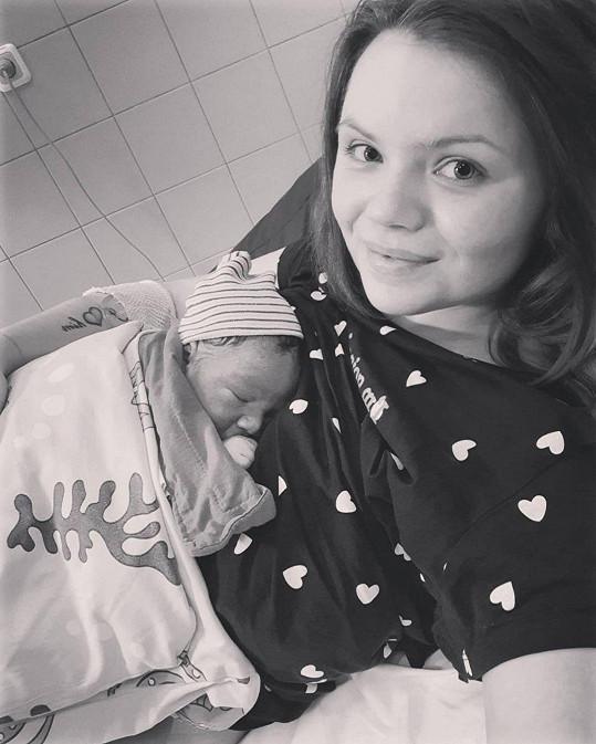 Veronika Stýblová se svým chlapečkem Sebastianem