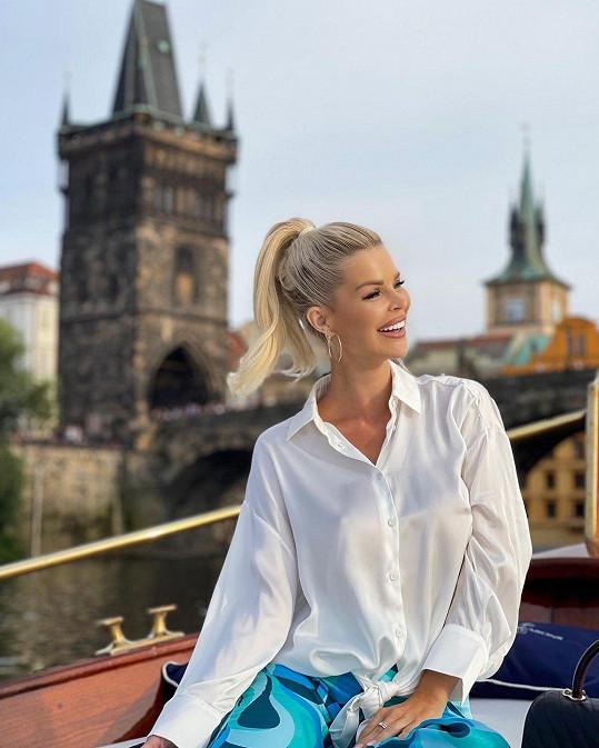 Silvia Kucherenko přijela do Prahy napůl soukromě a pracovně.