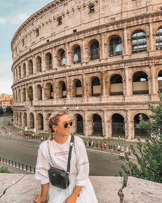 Návštěvu Kolosea nevynechala.