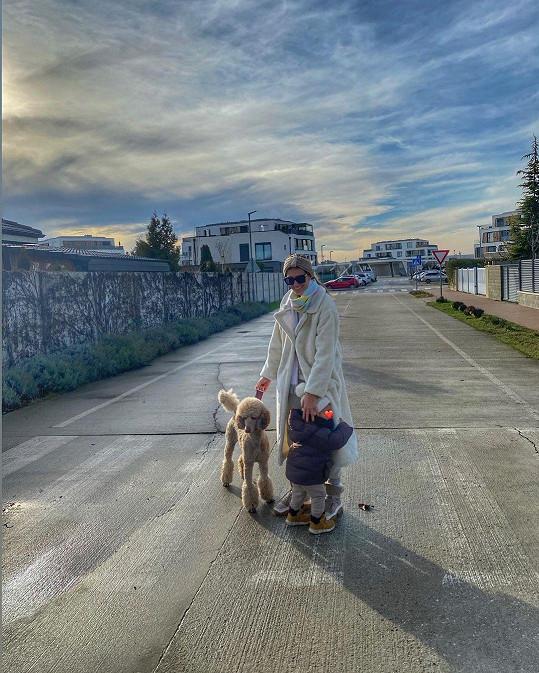 Na procházce se synem