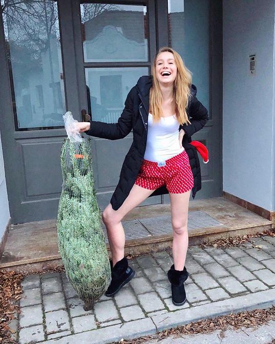 Anna Kadeřávková začala s přípravami už v listopadu. Ozdobeným stromkem se ale zatím nepochlubila.