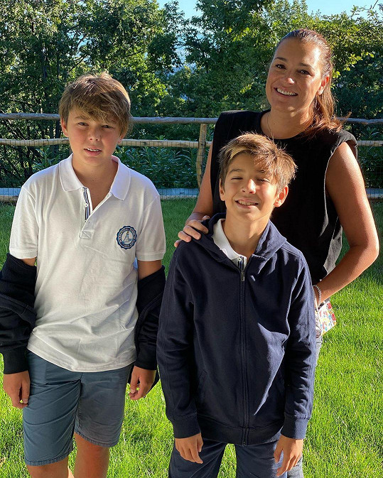 Modelka má ještě dva syny z manželství s brankářem Gigim Buffonem.
