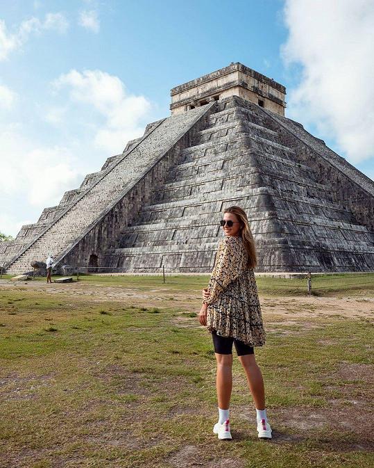 V Mexiku nemohla vynechat návštěvu pyramid v oblasti Chichén-Itzá.