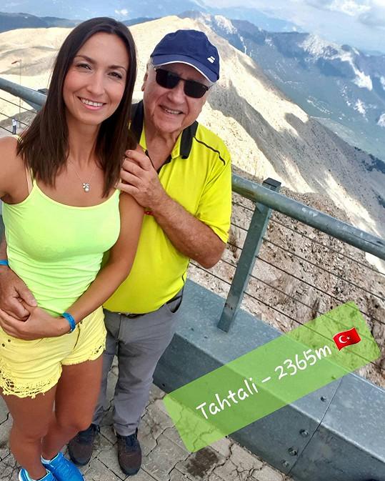 Lucie Gelemová a Felix Slováček si užívali volno v Turecku.