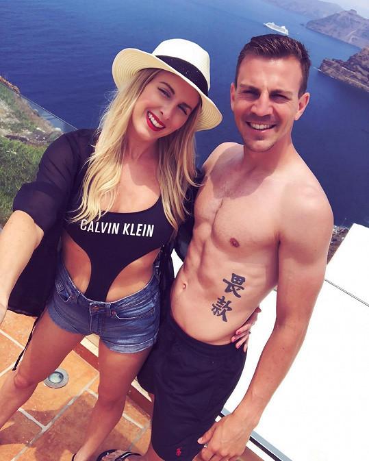 Kapitán fotbalové reprezentace Vladimír Darida s manželkou Kateřinou