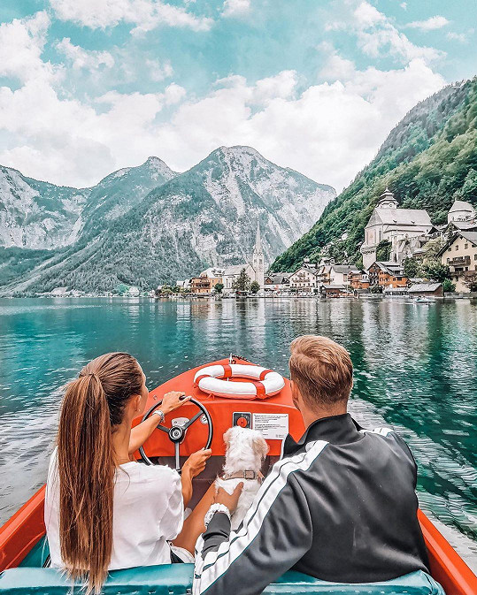 S přítelem Patrikem Dresslerem nejprve navštívili jezera Horního Rakouska.