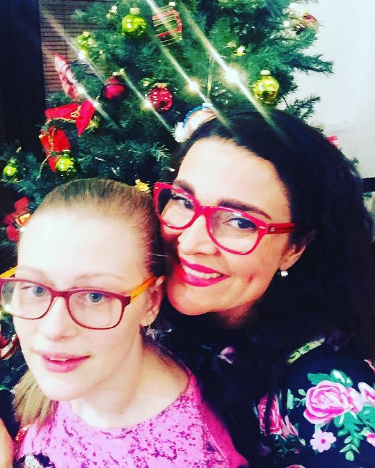 Mahulena Bočanová se s dcerou Márinkou už nemůžou dočkat Vánoc.