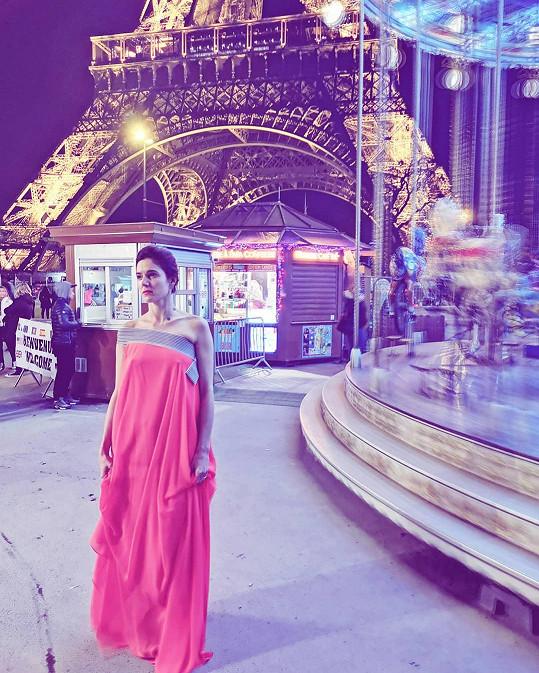 Markéta Stehlíková v Paříži.