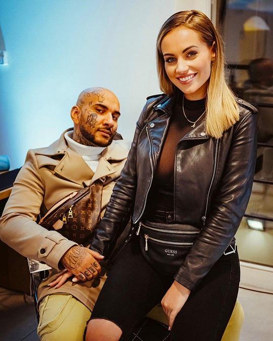 Natálie a její partner, barber Lukáš Vlačuha alias Laky Royal.