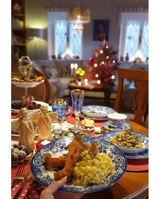 Štědrovečerní večeře byla tradiční.