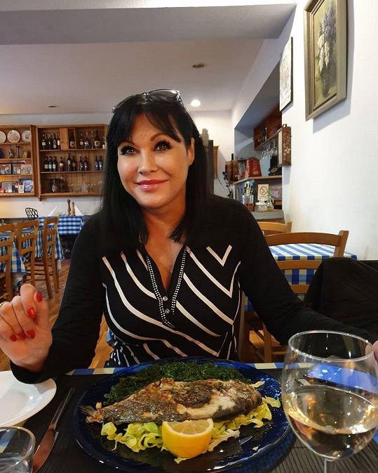 Dáda Patrasová potěšila fanoušky snímkem od večeře.