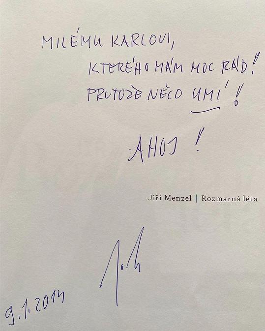 Ivana Gottová zveřejnila vzkaz, který napsal Menzel Gottovi ve své knize.