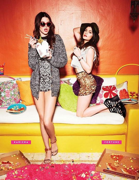 Kylie (17) se sestrou Kendall (18) v minulosti fotily kampaně spolu, dnes se prosazuje hlavně starší z nich.