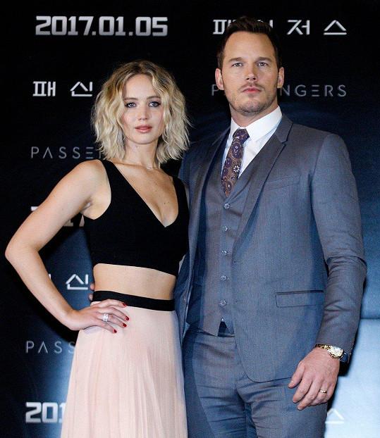Podle některých za rozchodem Pratta a Faris stojí herečka Jennifer Lawrence.