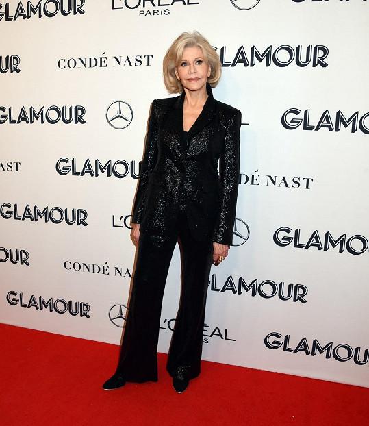 Jane Fonda si váhu stále hlídá.