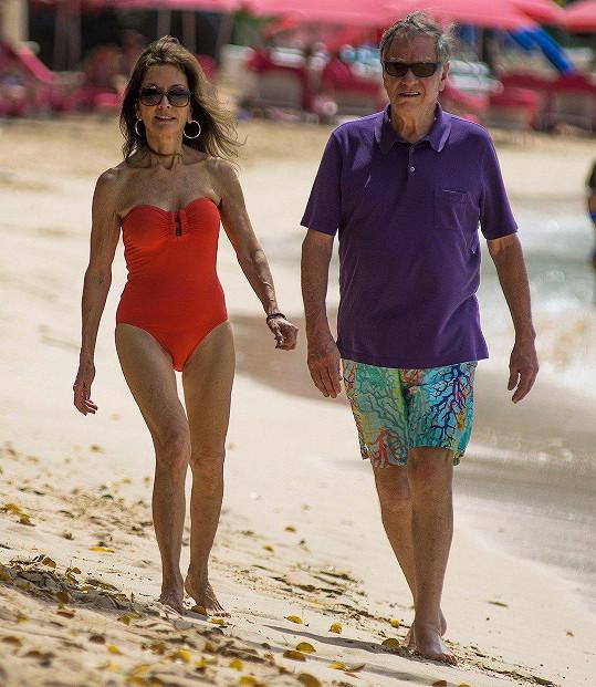Susan Lucci s manželem Helmutem na Barbadosu